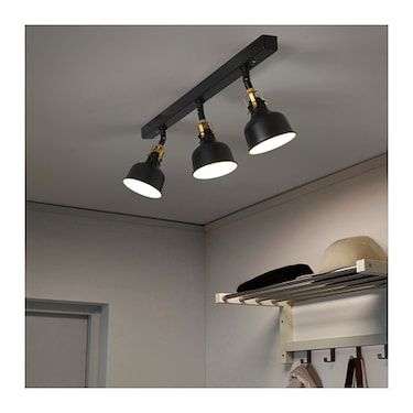 Ranarp Black Ceiling Track 3 Spots Ikea Black Ceiling Lighting Track Lighting Bedroom Kitchen Ceiling Lights