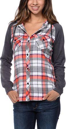 Hoodies Sweatshirt Pockets Checkered,Traditional Plaid,Sweatshirts for Teen Girls