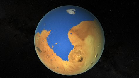 Evidence For Ancient Mega-Tsunamis Discovered On Mars  We're pretty certain Mars once had a lot of water, in the form of a large ocean in the northern hemisphere of the planet. But scientists have long been puzzled by the lack of any noticeable evidence for this ancient body of water, particularly a coastline, a feature common around Earth's seas.