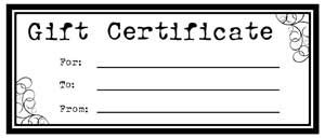 Free Printable Personalized Gift Certificates  Helpful