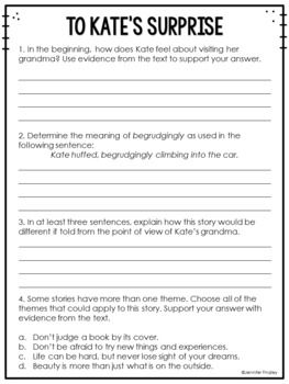 Common Core Weekly Reading Homework Review {Set 4: Themes in