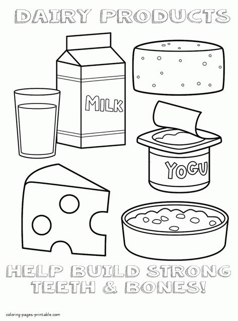 Food Coloring Pages Food Coloring Pages No Dairy Recipes