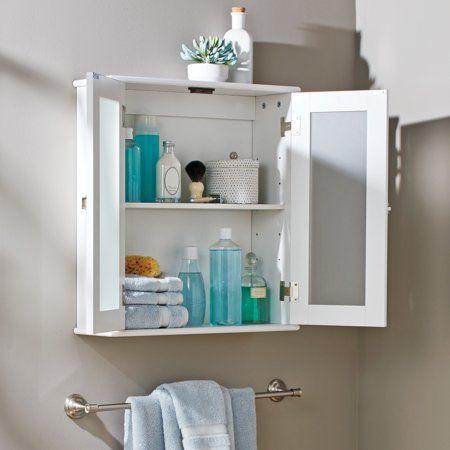 27++ White bathroom cabinet glass ideas