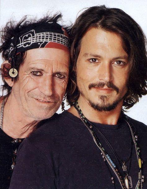 Keith Richards & Johnny Depp
