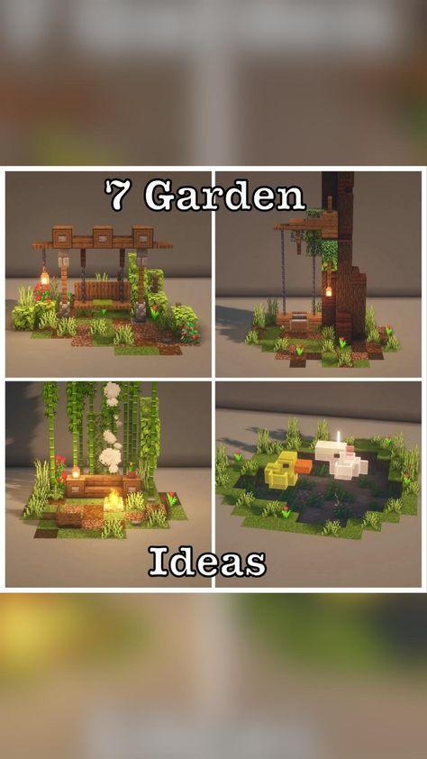 Minecraft garden ideas  IG: @minecraft.luki7