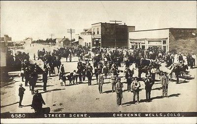 Details about Cheyenne Wells, CO ,real photo postcard, band
