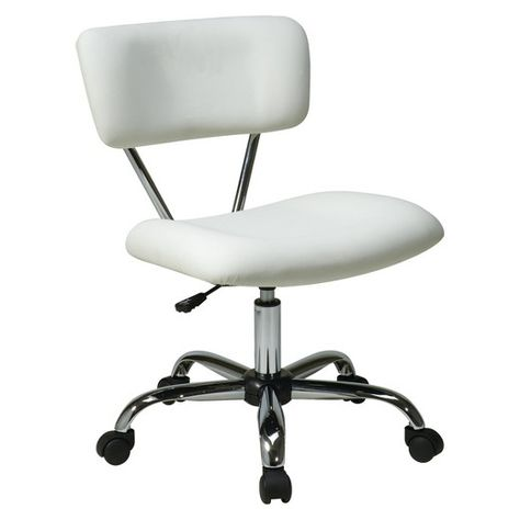 Pleasant Vista Chrome And Vinyl Desk Chair White Osp Home Ibusinesslaw Wood Chair Design Ideas Ibusinesslaworg