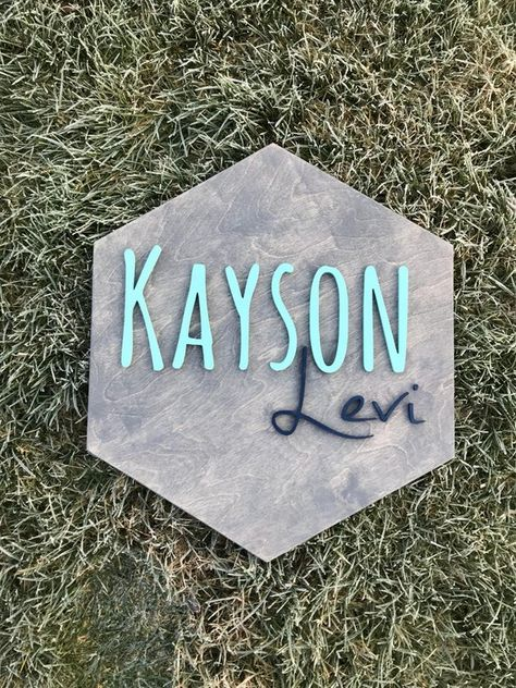 Boy Names Discover Wooden Hexagon Name Sign- Custom Wooden Name Sign- Nursery Decor- Custom Kids Room Decor- Raised Wooden Letters- Custom Baby Shower Gift Cute Baby Names, Pretty Names, Unique Baby Names, Baby Girl Names, Boy Names, Baby Boy, Wooden Name Signs, Baby Name Signs, Wooden Letters