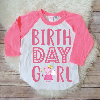 Discover Ideas About Pig Birthday Girl Shirt Peppa
