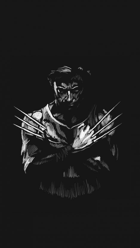 Wolverine Logan Minimal iPhone Wallpaper - iPhone Wallpapers