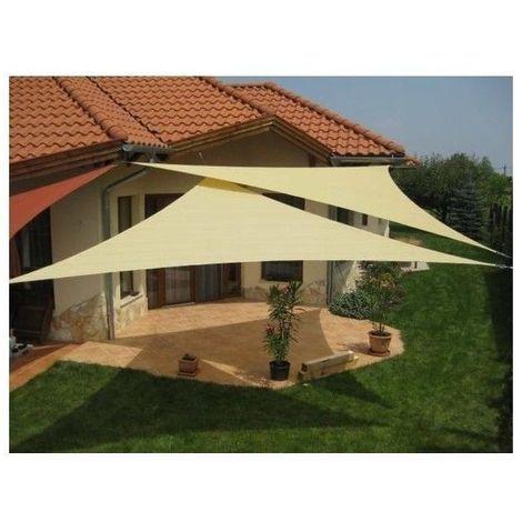 Emooqi tenda a vela triangolare, parasole triangolare 5x5x5m,vela ombreggiante/tende da sole per esterno, protezione raggi uv, hdpe tende a. Tenda A Vela Telo Triangolare Ombreggiante Per Arredo Esterno Giardino Camping Dimensione Disponibile 3 6 X Arredamento Esterno Vele Ombreggianti Tenda A Vela