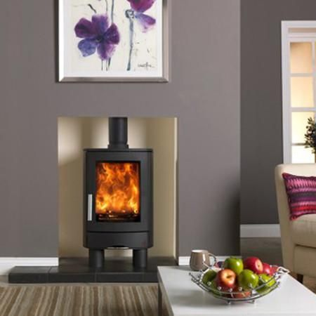 Fitted With 4 Short Cylindrical Legs The Neo 1f Is Ideal For Installing Into A Fireplace Recess A Wood Burning Stoves Uk Standing Fireplace Wood Burning Stove