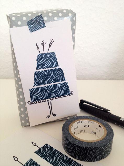 DIY – schnelle Geburtstagskarte mit Maskingtape