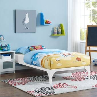 Jojo Siwa Upholstered Twin Platform Bed In 2020 Twin Bed Frame