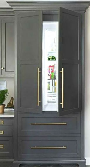 Gorgeous Grays Gold Oversized Refrigerator Handles By