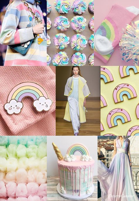 KAWAII RAINBOW - color, print & pattern trend inspiration for Spring / ...