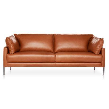Klein 3 Seat Leather Sofa Restaurantes Y Casas