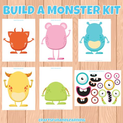 graphic regarding Build a Monster Printable known as Pinterest