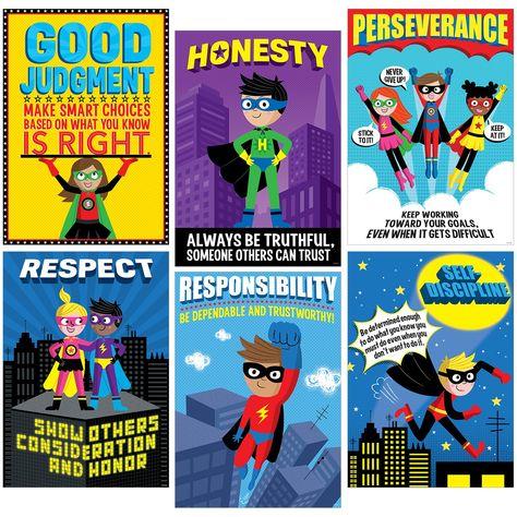 Creative Teaching Press Superhero Character Ed Inspire U Poster Pack