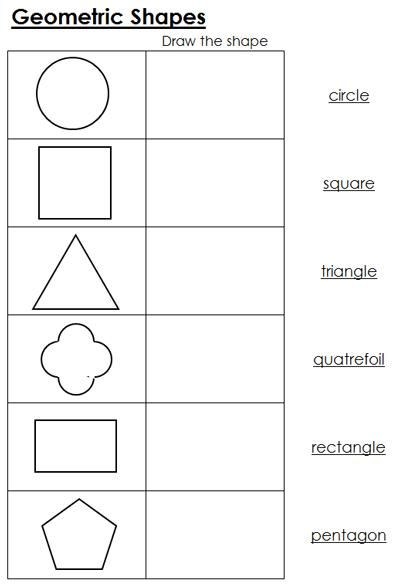 Geometric Shapes Worksheets Geometry Worksheets Shapes
