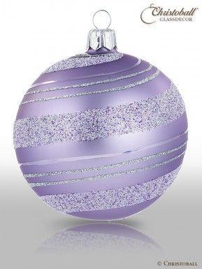 Christoball Weihnachtskugel Christbaumkugel Glaskugel Pirouette Lavendel Lila Zartes Helles Lila Weihnachtskugeln Christbaumkugeln Kugel
