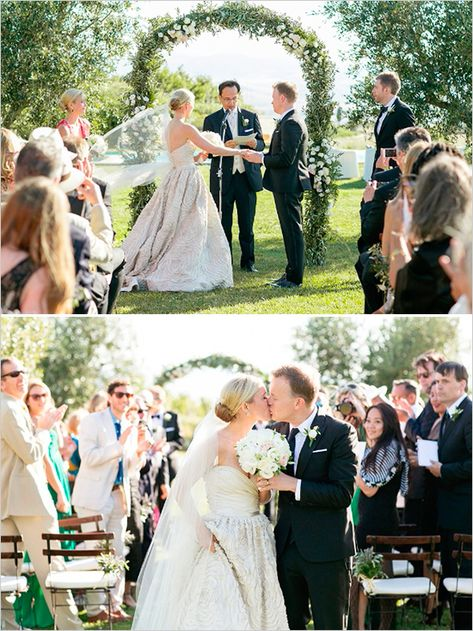 Italian wedding | garden ceremony ideas | vows | elegant wedding ideas | #weddingchicks