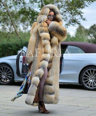 Golden Island Royal Fox Fur Long Coat Class Chinchilla Sable Mink