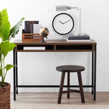 Mainstays Sumpter Park Student Office Desk With 2 Drawers Multiple Colors Brown In 2019 Products Student Desks Desk Office Desk