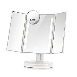 Artifi Makeup Mirror For Kids Fashion Makeup Vanity Mirror For Children Lighted Makeup Mirror With Organizer And Removable 10x Magnification Mirror Make Up Vanity Mirror For Girls Xmas Gifts Makeup Mirror With