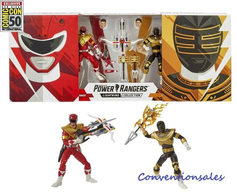 SDCC 2019 Hasbro Power Rangers Lightning Collection Mighty Morphin Red+Zeo Gold