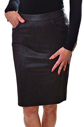 Poshtops Women S Streatchy Ladies Midi Skirt Elasticated Waist