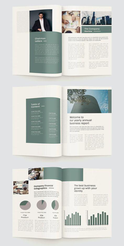 Green Annual Report Design Template