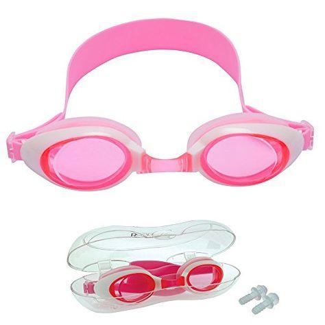 5e9878f710 Bezzee-Pro Gafas de Natación para Niños Silicona, a Prueba de Agua ...