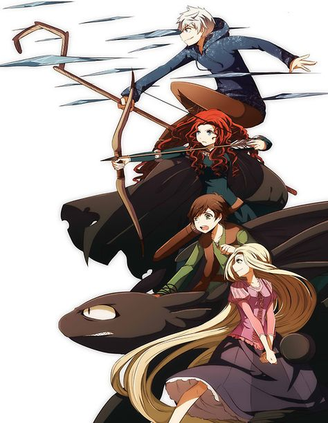 I LOVE this crossover idea!  Rise of the Brave Tangled Dragons.