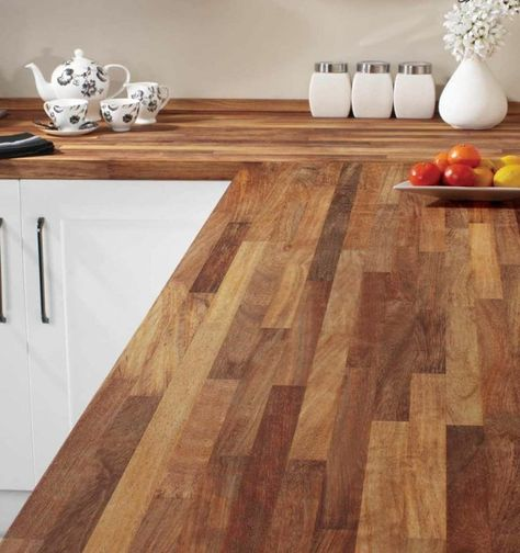 Holz Arbeitsplatten - Kombination aus unterschiedlichen - arbeitsplatte holz küche