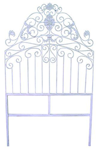 Antique White Iron Twin Headboard Iron Headboard Country Bedroom