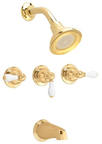 Tub and Shower Faucet Set 3 Handle with