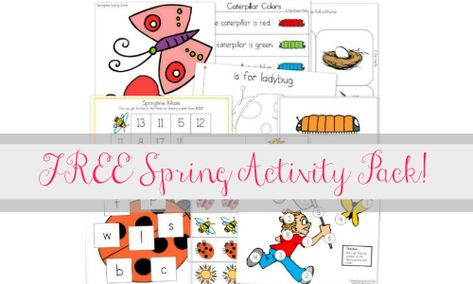 FREE Spring Pre-K/K Spring Activity Pack - Southern Savers