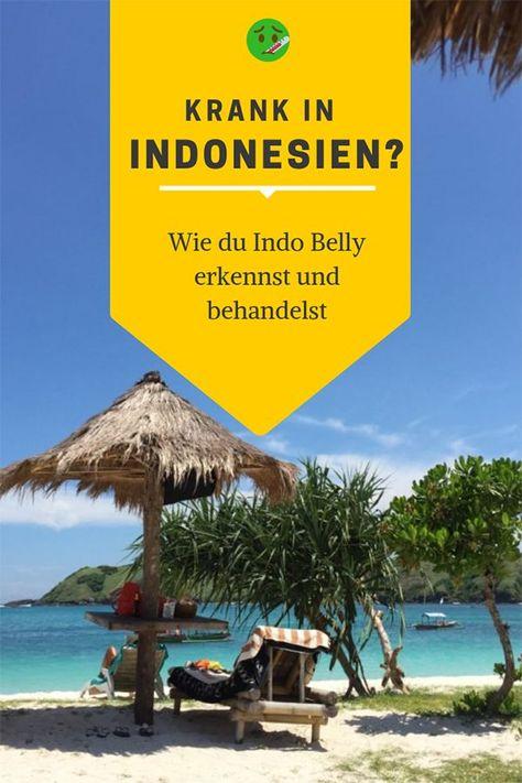 """Urlaubsfrust statt Urlaubslust in Indonesien? Anstelle Kokosnüsse zu schlürfen, hältst du dich mit Übelkeit, Durchfällen und Bauchkrämpfen auf? Frustrierend, aber ein bekanntes Problem in den Tropen. Auf Bali nennt man dieses Phänomen ganz passend """"Bali Belly"""", obwohl es dich natürlich überall in Indonesien treffen kann. Wie du den Bali Belly oder auch Indo Belly vermeiden kannst – und was zu tun ist, falls es dich doch einmal erwischt hat, erkläre ich hier. #indonesientipp #balibelly #indobelly"""