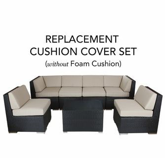 Ohana Outdoor Patio Replacement Cushion Cover Set Without Foam Inserts Patio Furniture Replacement Cushions Patio Cushion Covers Patio Furniture Cushions