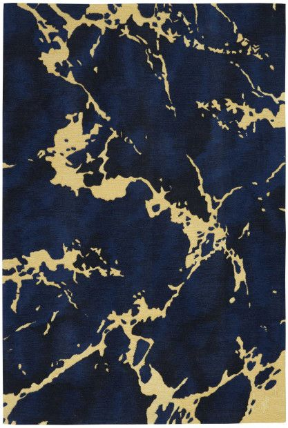 Symmetry Smm09 Navy Modern Carpets Design Gold Rug Rugs