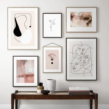 Abstract Line Drawing And Photography Minimalist Artwork Gallery Wall Prints Inspiration Wall Gallery Wall Inspiration Wall Art Canvas Painting