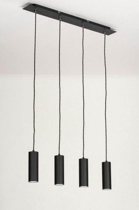 Pendelleuchte 13032 Modern Metall Schwarz Matt Pendelleuchte Lampen Lichtquelle