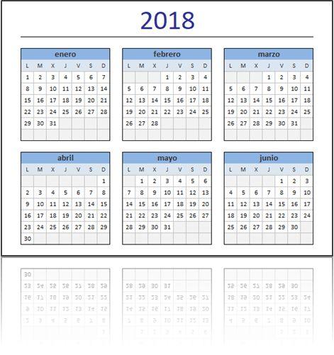 calendarios en excel 2015