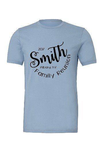 KEY Last Name T-Shirt Custom Name Shirt Family Reunion Tee S-5XL