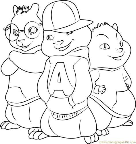 Alvin E Os Esquilos Para Imprimir E Colorir Alvin E Os Esquilos