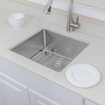 Prolific 33 L X 17 3 4 W X 11 Undermount Single Bowl Kitchen Sink With Accessories Undermount Kitchen Sinks Single Bowl Kitchen Sink Sink