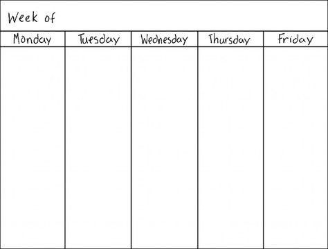 Blank Weekly Calendars Printable Activity Shelter Calendar - free printable weekly calendar