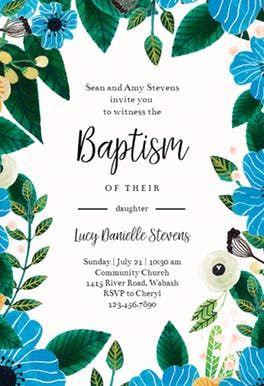 Blue Orange Baptism Christening Invitation Template Free Greetings Island Christening Invitations Invitations Christening