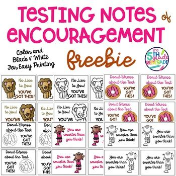 photograph regarding Encouraging Notes for Students During Testing Printable named Tests Notes of Encouragement Printable FREEBIE Melonheadz